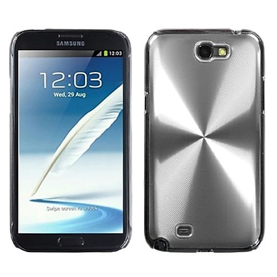 Insten® Cosmo Back Protector Case For Samsung Galaxy Note II (T889/I605), Silver