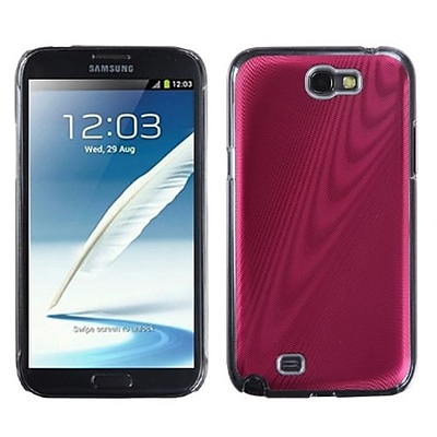 Insten® Cosmo Back Protector Case For Samsung Galaxy Note II (T889/I605); Red