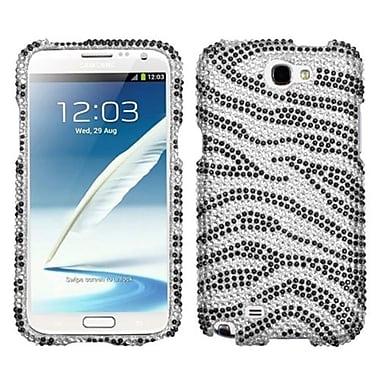 Insten® Skin Diamante Protector Case For Samsung Galaxy Note II (T889/I605), Black/Zebra