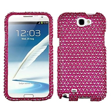 Insten® Diamante Phone Protector Case For Samsung Galaxy Note II (T889/I605), Hot-Pink/White Dots