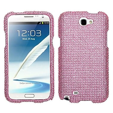 Insten® Diamante Protector Case For Samsung Galaxy Note II (T889/I605), Pink