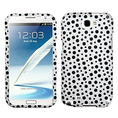 Insten® Phone Protector Case For Samsung Galaxy Note II (T889/I605), Black Mixed Polka Dots