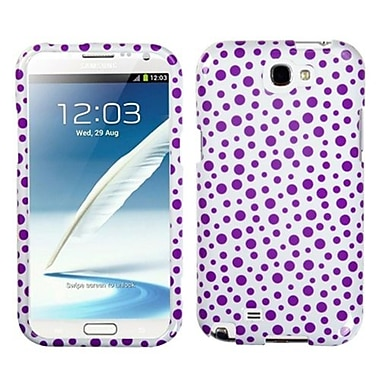 Insten® Phone Protector Case For Samsung Galaxy Note II (T889/I605), Purple Mixed Polka Dots