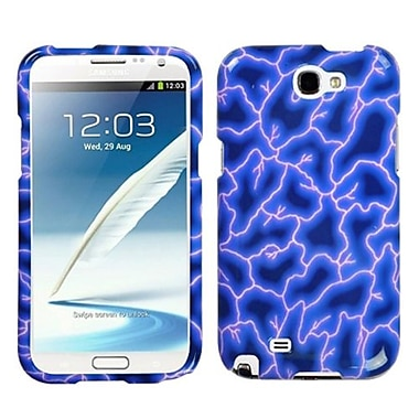 Insten® Phone Protector Case For Samsung Galaxy Note II (T889/I605), Blue Lightning