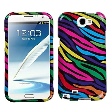Insten® Neon Phone Protector Case For Samsung Galaxy Note II (T889/I605), Zebra Skin