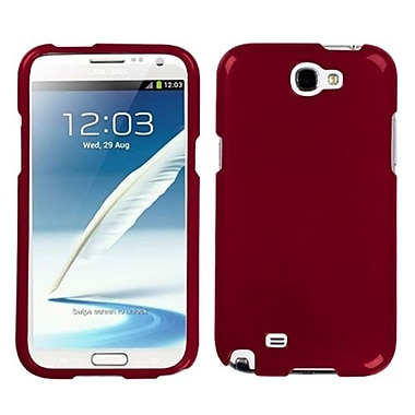 Insten Phone Protector Case For Samsung Galaxy Note II, Solid Red (1010582)