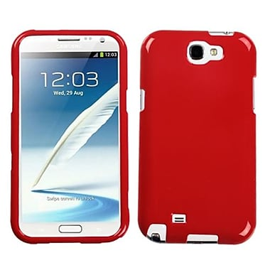 Insten® Phone Protector Case For Samsung Galaxy Note II (T889/I605), Solid Flaming Red