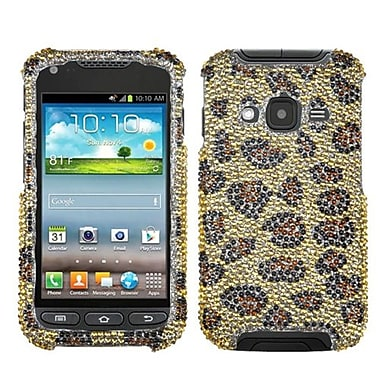 Insten® Skin Diamante Protector Case For Samsung i547 (Galaxy Rugby Pro), Leopard/Camel