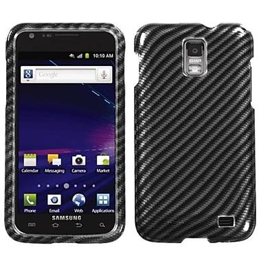 Insten® Phone Protector Case For Samsung i727 (Galaxy S II Skyrocket), Racing Fiber Silver