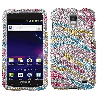 Insten® Diamante Phone Protector Case For Samsung i727 (Galaxy S II Skyrocket), Colorful Zebra