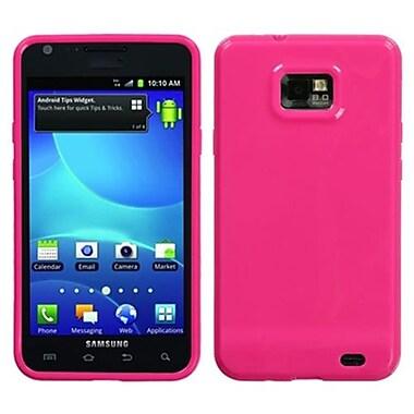 Insten® Argyle Candy Skin Case For Samsung I777 Galaxy S2, Solid Hot-Pink