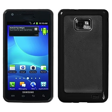 Insten® Gummy Case For Samsung I777 Galaxy S2, Transparent Clear/Solid Black