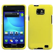 Insten® Rubberized Phone Protector Case For Samsung I777 Galaxy S2; Yellow