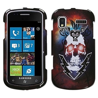 Insten® Phone Protector Case For Samsung i917 (Focus), Lightning Skull