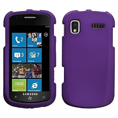 Insten® Rubberized Phone Protector Case For Samsung i917 (Focus), Grape