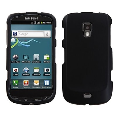 Insten® Rubberized Phone Protector Case For Samsung R930 (Galaxy S Aviator), Black