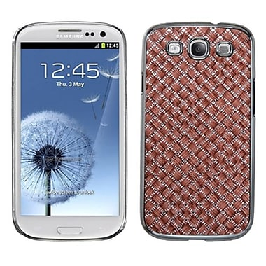 Insten Executive Back Protector Case For Samsung Galaxy S III, Vermilion Silver Plating Plaid (1012319)