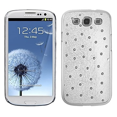 Insten Executive Back Protector Case For Samsung Galaxy S III, White Silver Plating Peacock Feather (1012323)