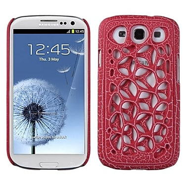 Insten® Synapse Case For Samsung Galaxy SIII, Red Ridged