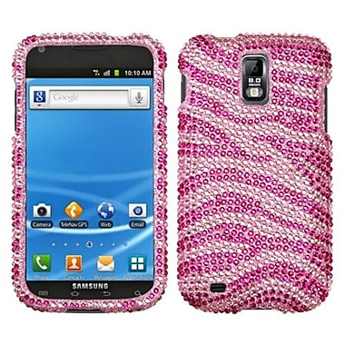 Insten® Diamante Protector Case For Samsung T989 Galaxy S2, Zebra Pink