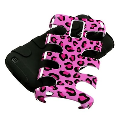 Insten® Fishbone Phone Protector Case For Samsung T989 Galaxy S2, Pink Leopard Skin/Black