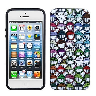 Insten® Argyle Candy Skin Cover F/iPhone 5/5S, All Smiles