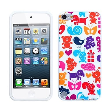 Insten TPU Plastic Gummy Skin Phone Cover For iPod Touch 5th Gen, Animal Paradise (1014660)