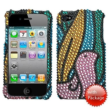 Insten® Premium Diamante Protector Cover F/iPhone 4/4S, Birdy