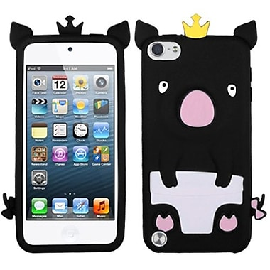 Insten Cover For iPod Touch 5th Gen, Black Cute Pig (1014860)