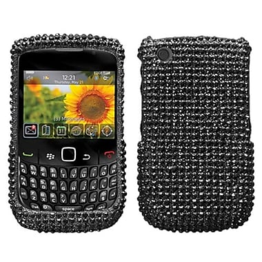 Insten Diamante Protector Cover For BlackBerry 8530/9300, Black (1014866)