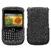 Insten® Diamante Protector Cover For BlackBerry 8530/9300, Black