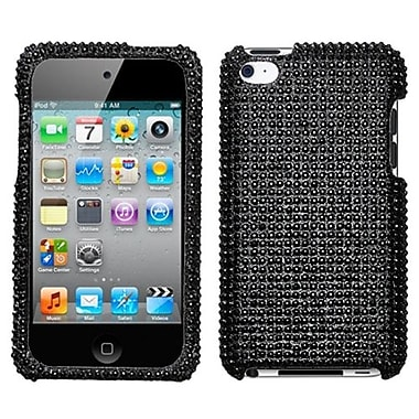 Insten® Diamante Protector Cover For iPod Touch 4th Gen, Black