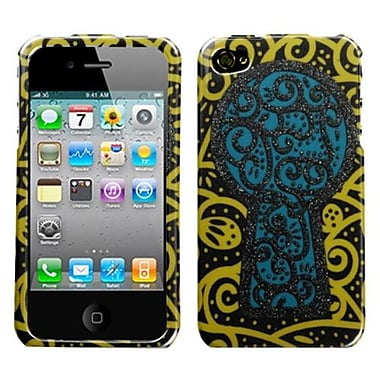 Insten Phone Protector Cover For iPhone 4/4S, Black Key Hole Sparkle (1014972)