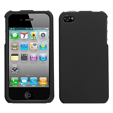 Insten Rubberized Protector Cover For iPhone 4/4S, Black (1015014)