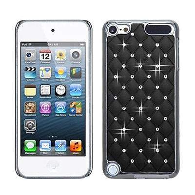 Insten® Alloy Diamond Luxurious Lattice Phone Protector Cover For iPod Touch 5th Gen, Black