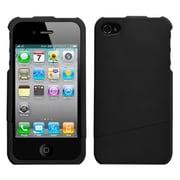 Insten® Rubberized Protector Cover F/iPhone 4/4S, Black Slash