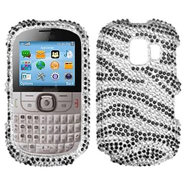 Insten® Diamante Protector Case For Alcatel One Touch 871A, Black Zebra