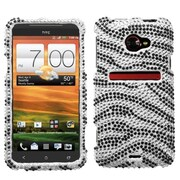 Insten® Diamante Protector Case For HTC EVO 4G LTE, Black Zebra