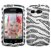 Insten® Protector Snap-In Cover Case F/Kyocera Hydro C5170, Black/White Zebra