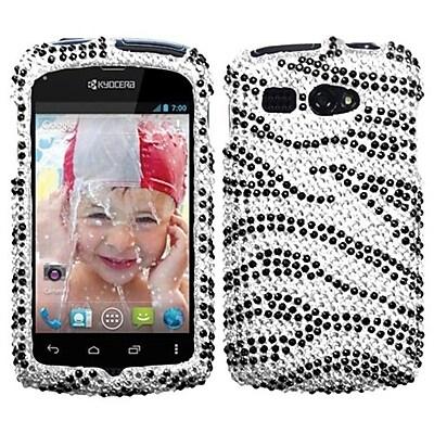 Insten® Protector Snap-In Cover Case F/Kyocera Hydro C5170, Black/White Zebra