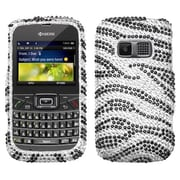 Insten® Zebra Skin Diamante Protector Case For Kyocera S3015 Brio, Black