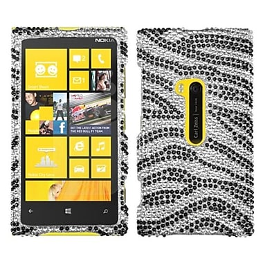 Insten Diamante Protector Cover For Nokia Lumia 920, Black Zebra Skin (1015138)