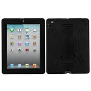 Insten 1015199 Rubber Stand Protector Case for Apple iPad 2/3/4 with Retina Display Tablet, Black