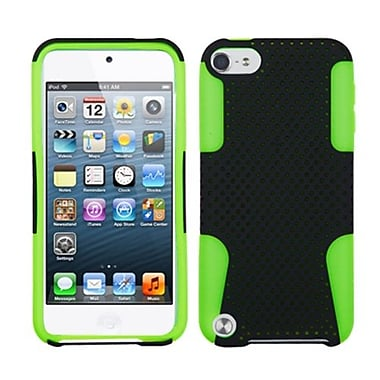 Insten Apex Hybrid Cover For iPod Touch 5th Gen, Black/Green (1015221)