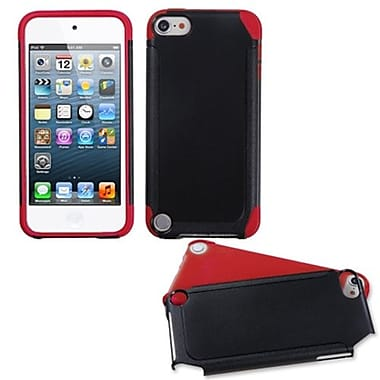 Insten® Fusion Hybrid Cover For iPod Touch 5th Gen, Black/Red