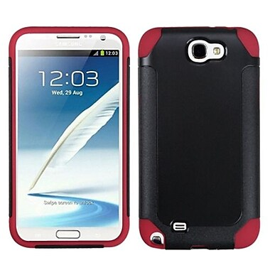 Insten® Frosted Fusion Protector Cover For Samsung Galaxy Note II, Black/Red