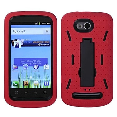 Insten® Symbiosis Stand Protector Case For Coolpad 5860E Quattro 4G, Black/Red