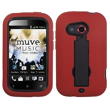 Insten® Symbiosis Stand Protector Cover For HTC Desire C, Black/Red