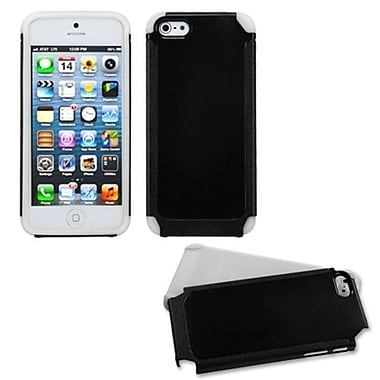 Insten® Fusion Protector Cover F/iPhone 5/5S, Black/White Frosted