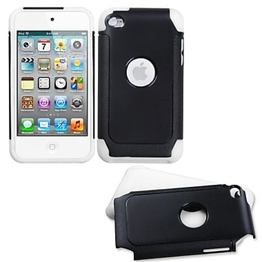 Insten Fusion Protector Cover For iPod Touch 4th Gen, Black/White Frosted (1015285)